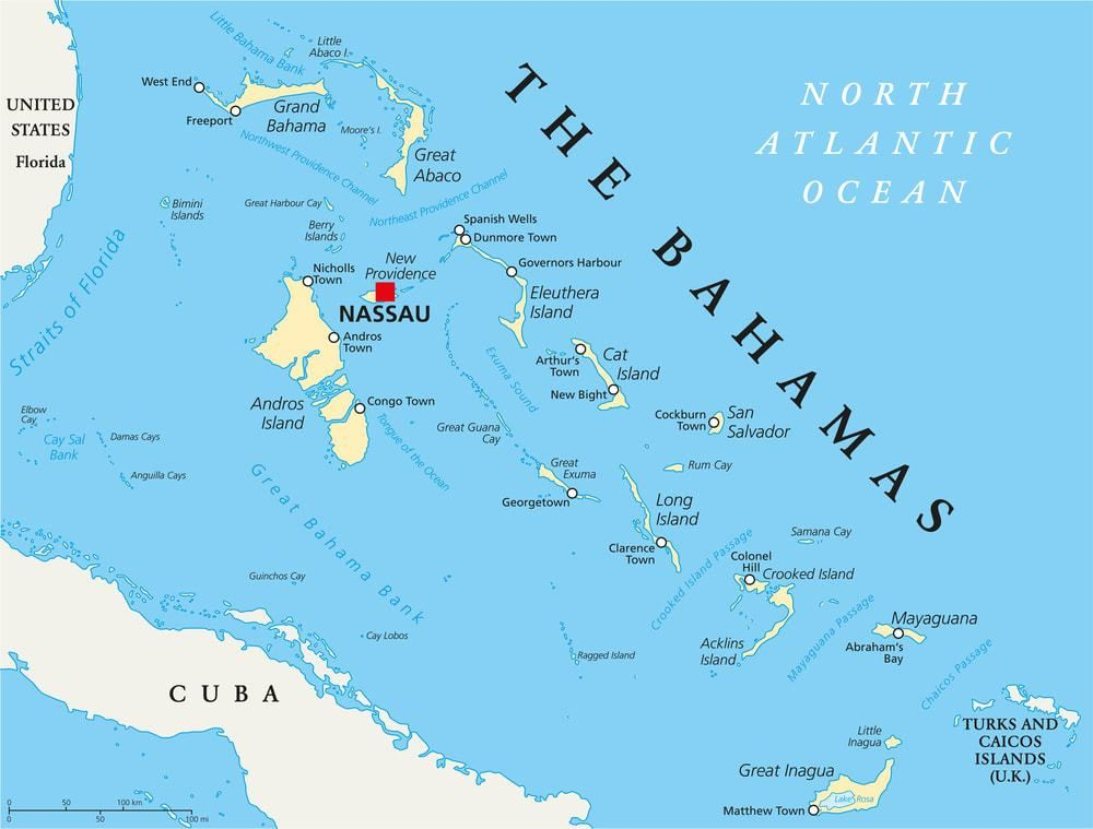 Map Of Bahamas Islands Map of Bahamas w/ Out Islands | Tropical Destinations in 2019