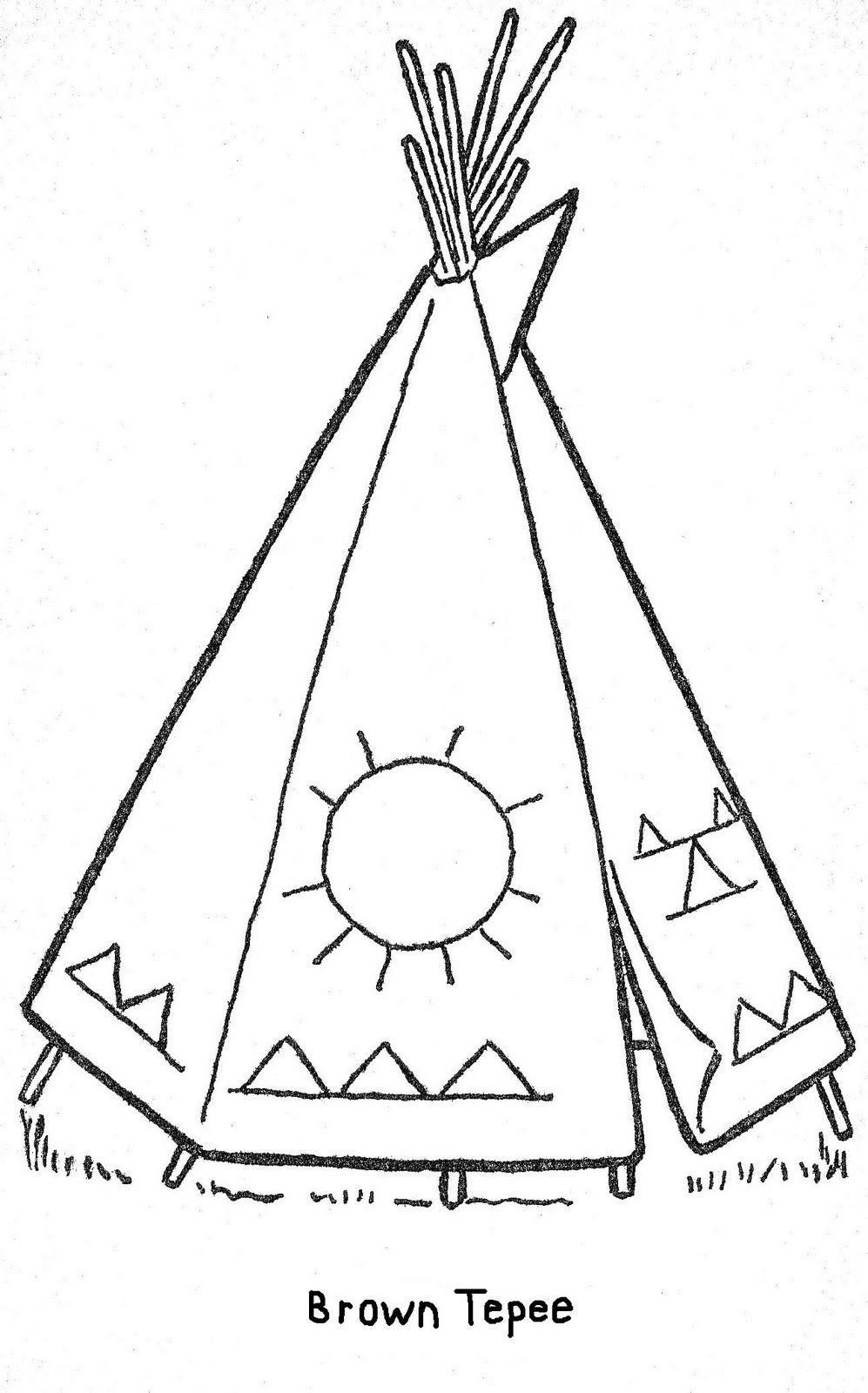 kids teepee coloring pages - photo#9