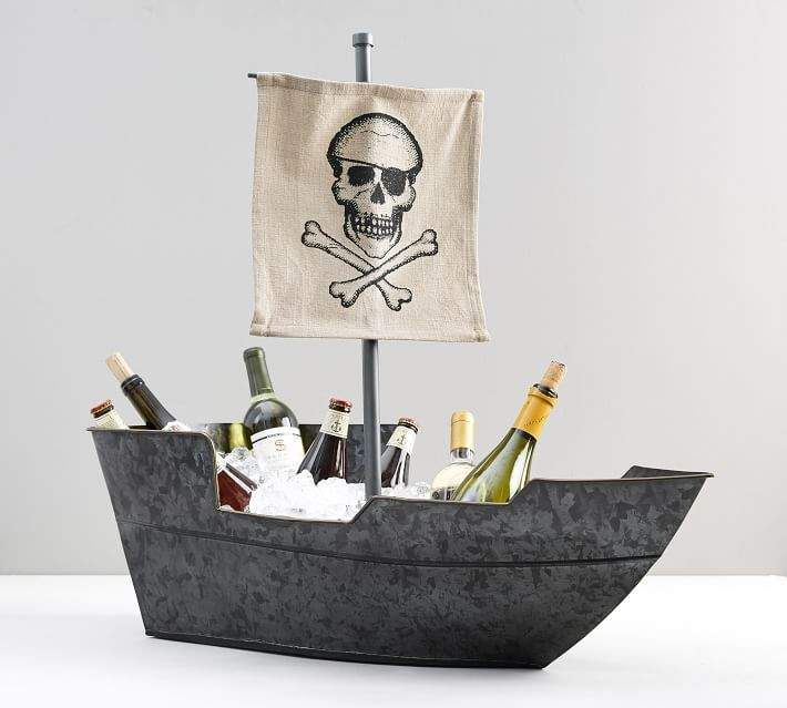 Pirate Ship Party Bucket Party Bucket Pirate Halloween Party Holiday Decor Halloween
