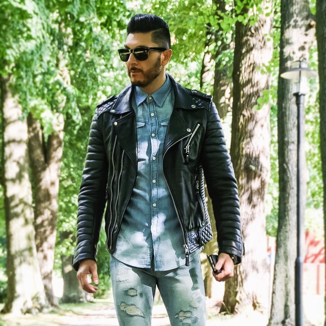 177 mentions J'aime, 13 commentaires - @marcellocalvetti sur Instagram: «La Chaqueta Negra...😎👌🏻🇮🇹💯 #leatherjacket #leatherlove #fashion #fashionmen #fashionlover #modamen…»