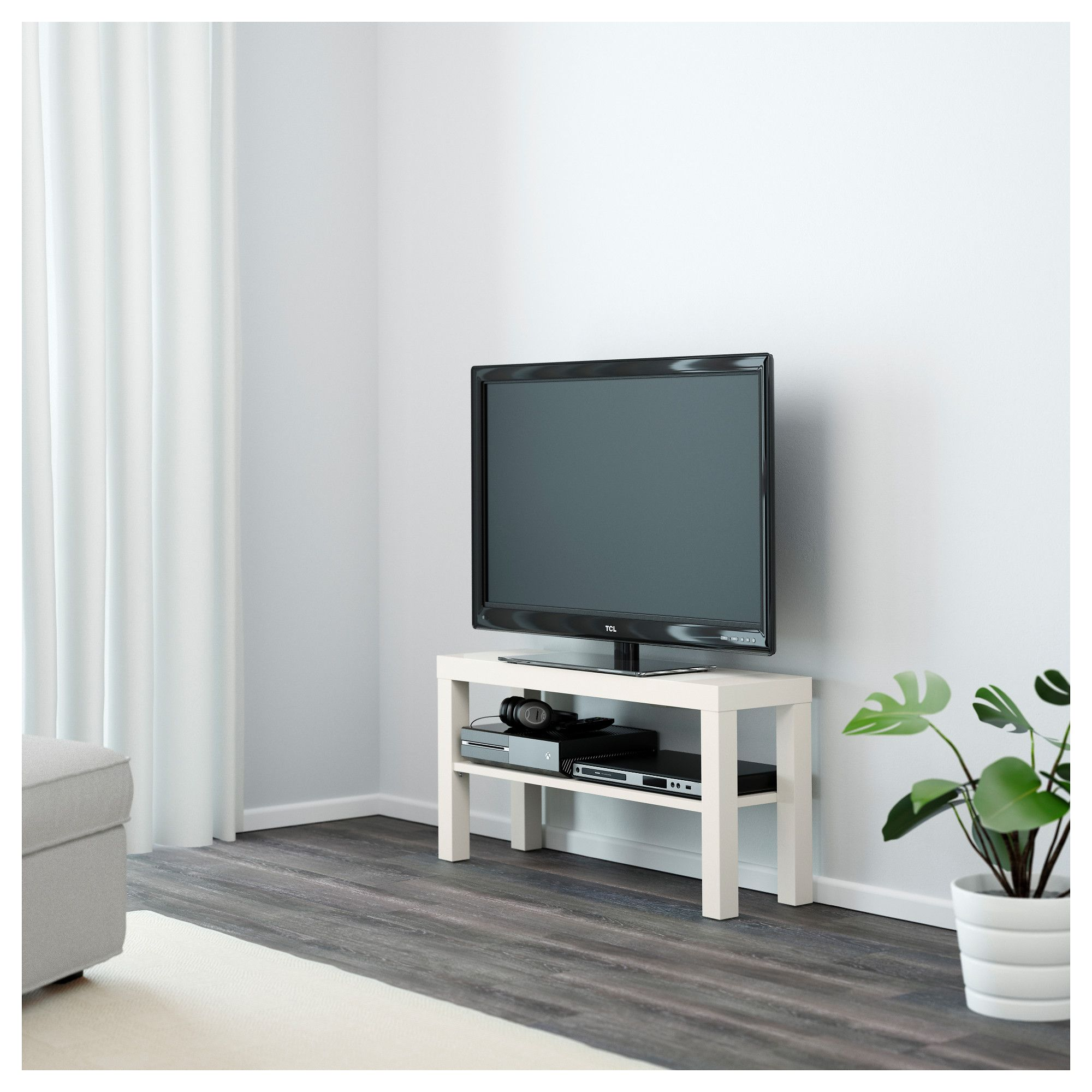 LACK TV bench White 90x26 cm | Tv bench, Bench and Organizing