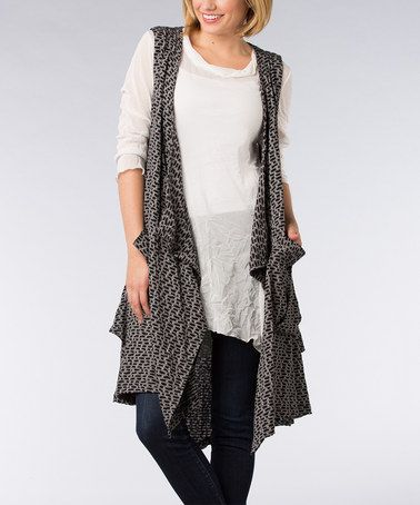 9cb98f4d89 This Black Pouch Pocket Sleeveless Open Cardigan by Dalin is perfect!   zulilyfinds