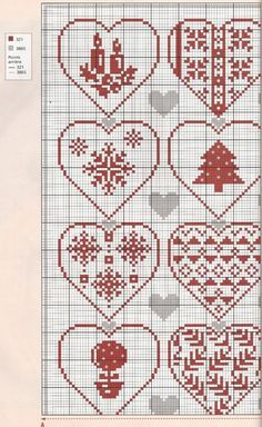 Рождество сердце вышивка