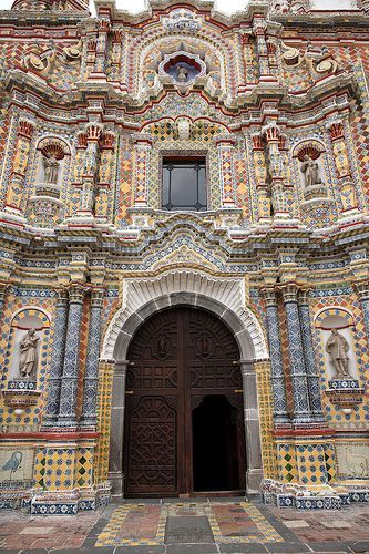 Church of San Francisco . Acatepec . Cholula . Mexico