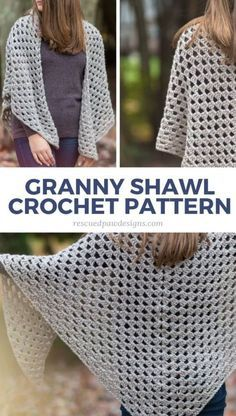 Free Crochet Granny Triangle Shawl Pattern - Easy Crochet