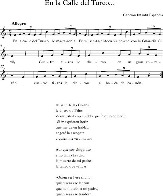 En la Calle del Turco. Canción Infantil Española.