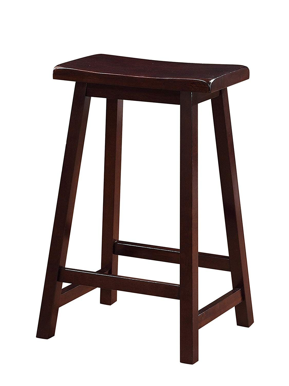 Linon Home Saddle Stool 24 Inch In 2020 Brown Bar Stools High