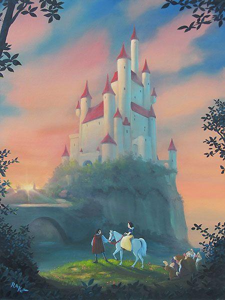 "tinkeperi:  Disney Fine Art: ""A new royal life by Bob Kaz:) #snowwhite"