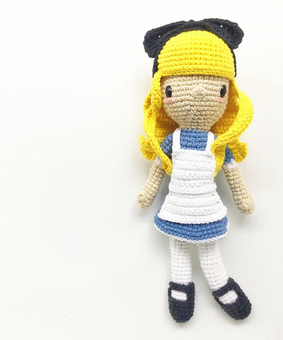 This is a PDF CROCHET PATTERN, NOT THE FINISHED DOLL. ALICE IN ...