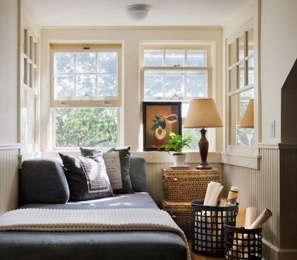 Rattan basket storage as small bedroom decoration ideas