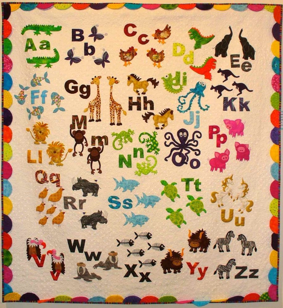Animal Alphabet ~ Applique Quilt Pattern by Don't Look Now ~ I Spy ... : alphabet quilt patterns - Adamdwight.com