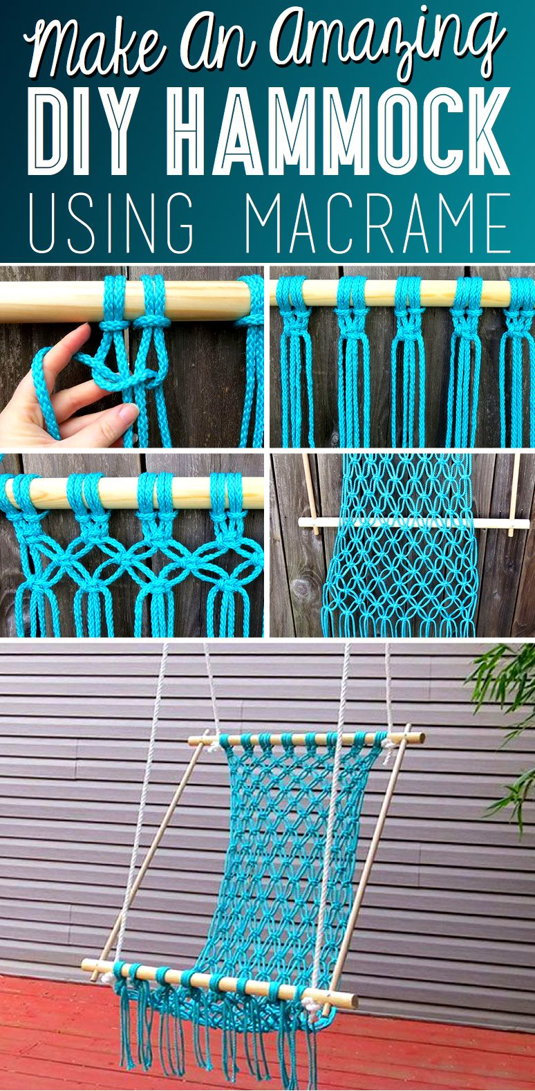 How to make a macrame hammock diy hammock craft and paracord