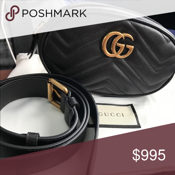 14d844615ec4 NWT Gucci GG Marmont Matelassé Leather Belt Bag 👜Brand new with tags. 100%