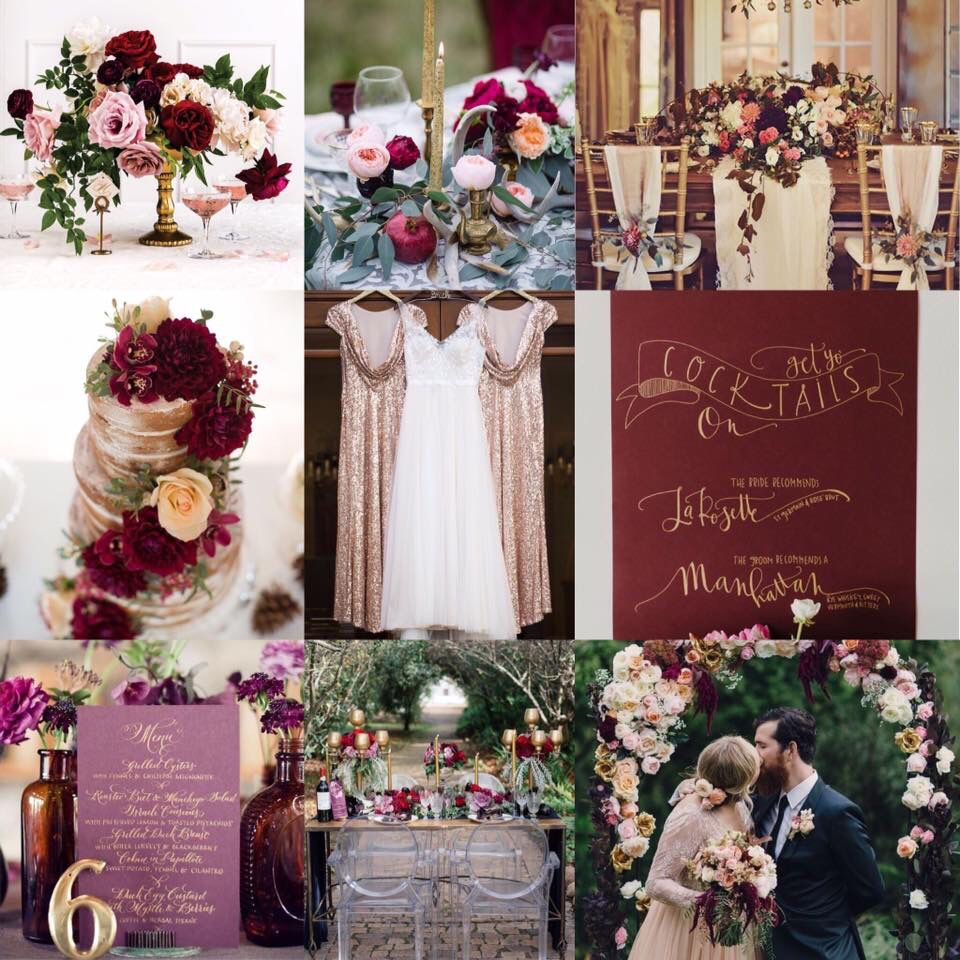 We at marys bridal are in love with this aubergine marsala and we at marys bridal are in love with this aubergine marsala and gold wedding junglespirit Choice Image