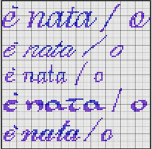 Ciao michelati ho fatto 5 scritture diverse in stampatello for Punto croce immagini