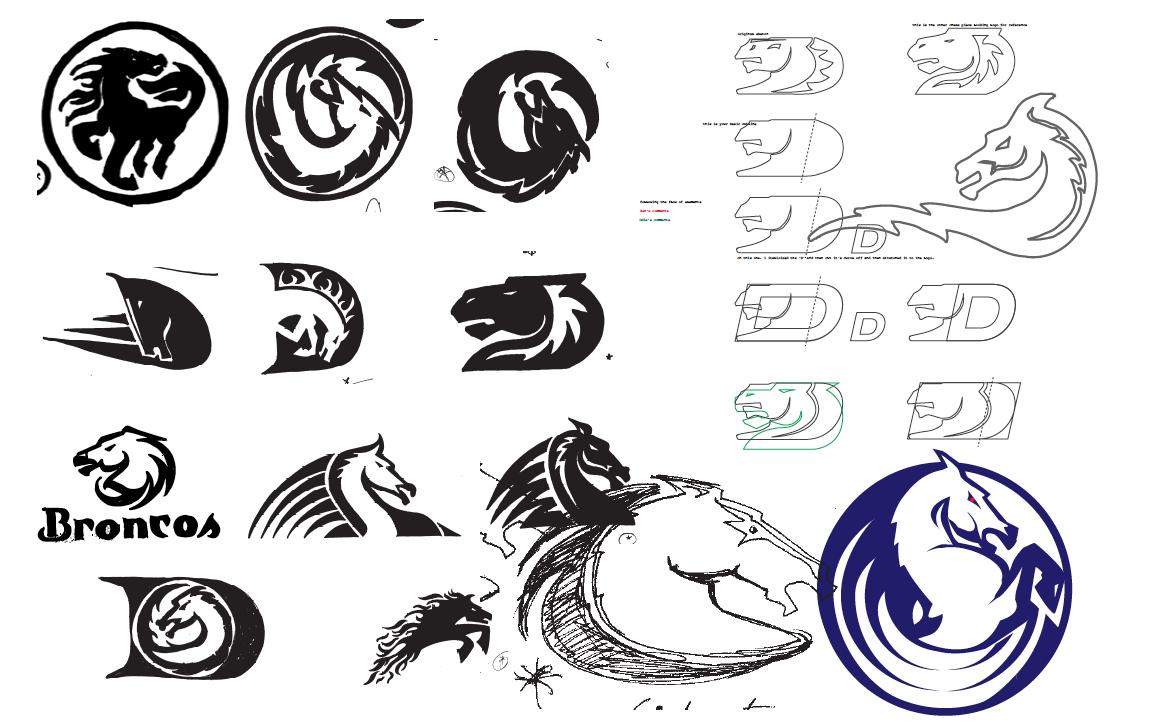 Sketches.png (1158×723) Broncos logo, Logo design, Logo
