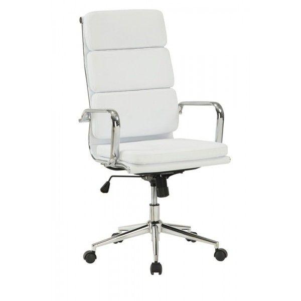 silla oficina soft pad alta white | Tiendas On | Sillas de oficina ...