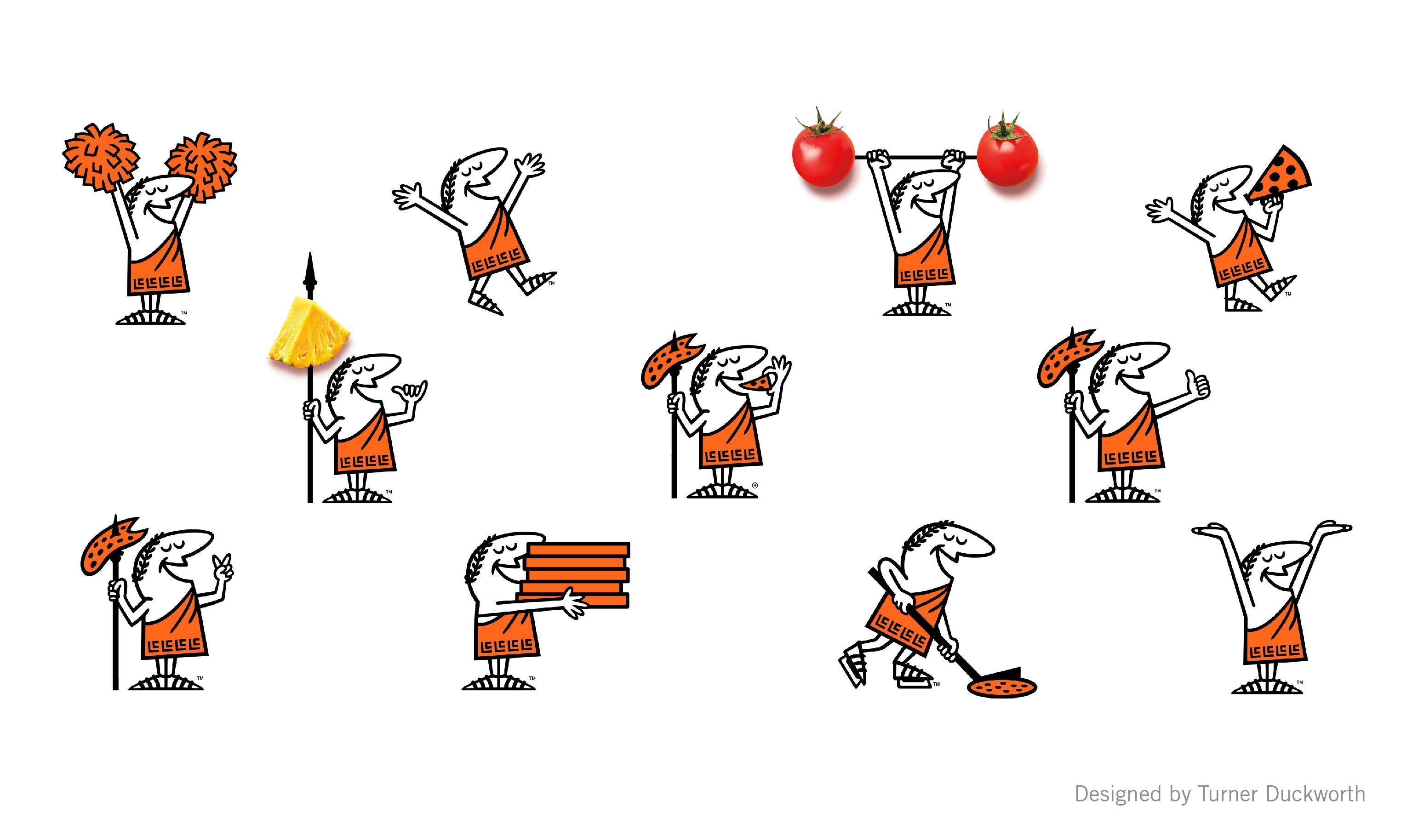 Little Caesars Mascot Caesar Visual Identity Crafts