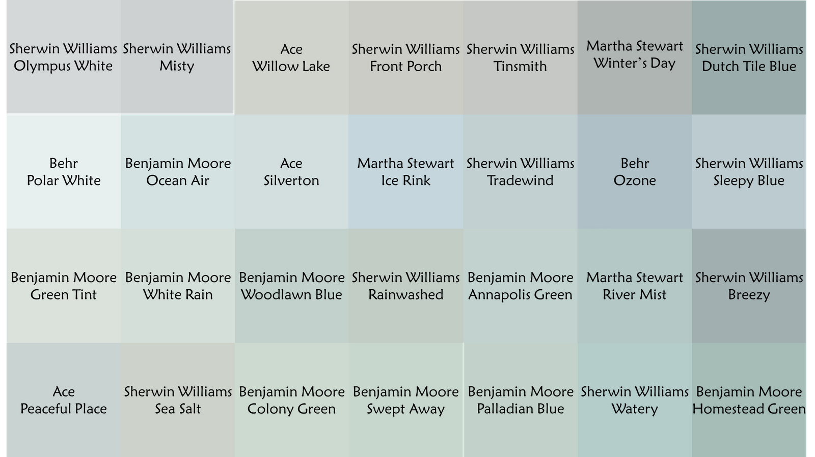 Blue Green Gray Colors I Like Trade Wind Ocean Air: green grey paint benjamin moore