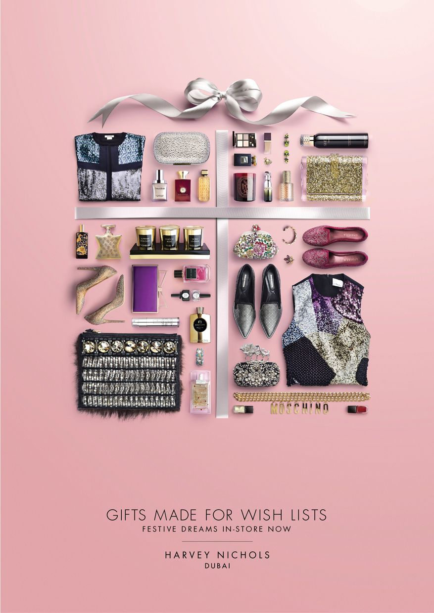 wish list gifts harvey nichols festive 2014 campaign on behance - Christmas Lists 2014