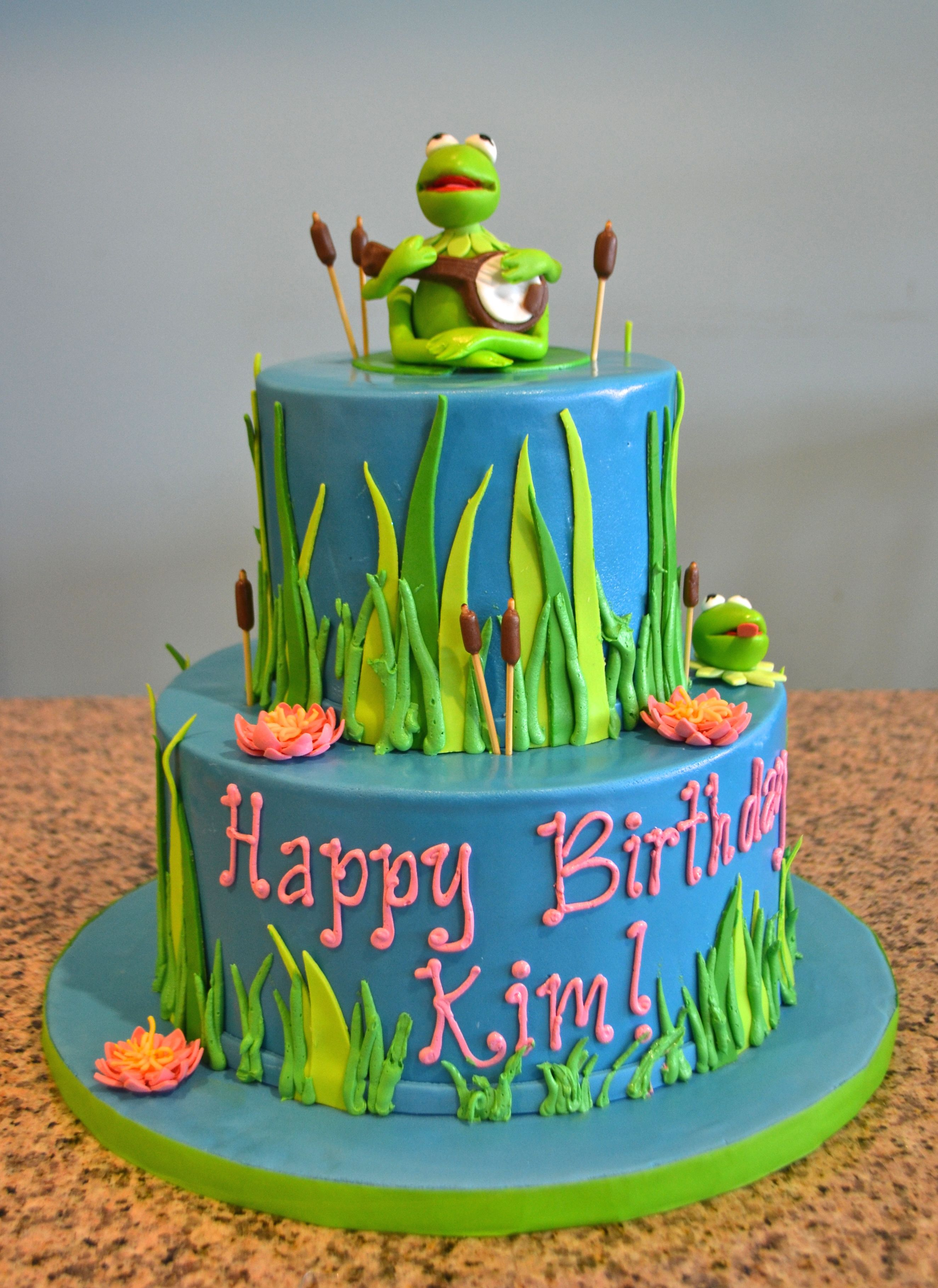 Kermit The Frog Birthday Cake Sugarland Raleigh Chapel Hill Cake