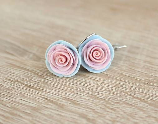 Hand-made roses earrings