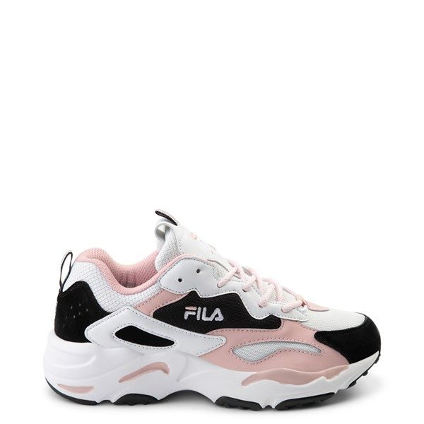 Womens Fila Ray Tracer Athletic Shoe White Black Pink