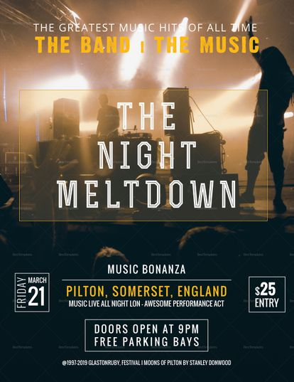 Rock Band Concert Flyer Template Concert Flyer Flyer Template And
