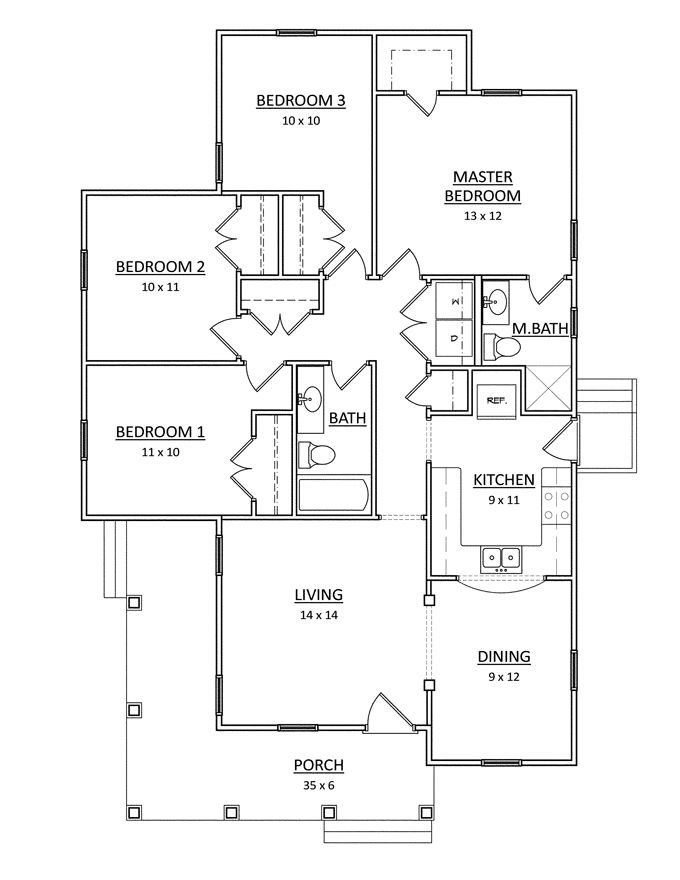 4 Bedroom Bungalow Design Glamorous Home Plans Homepw76077  1313 Square Feet 4 Bedroom 2 Bathroom 2018