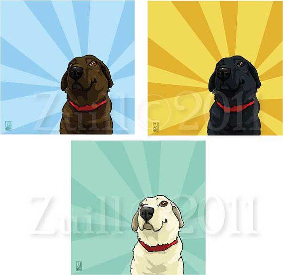 Badbird: Labrador print