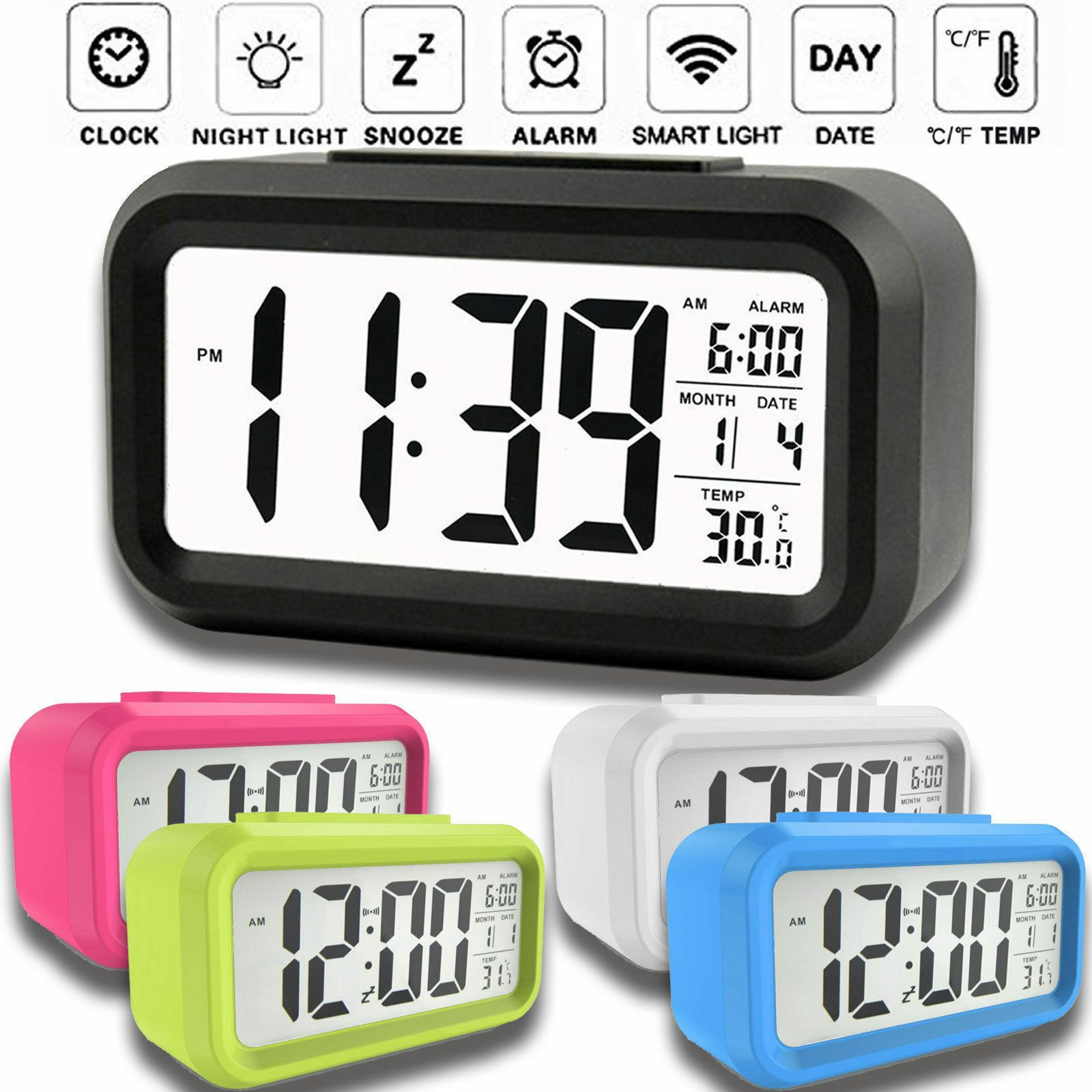 Fashion Digital Alarm Clock Small Portable Desk Morning