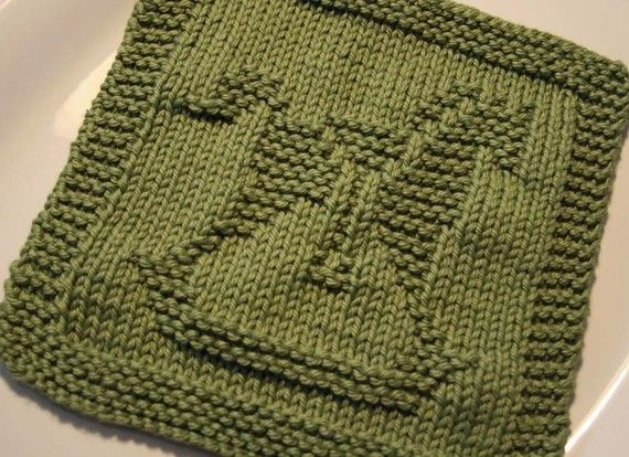 Knitted Baby Washcloths Hand Knit Cotton Dishcloths 2 Pinterest