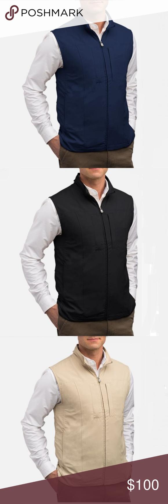 Scottevest Men's Travel Vest Black/Navy/Khaki Mens