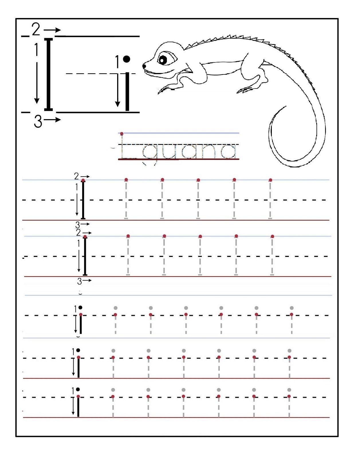 Preschool Printable Worksheets Letter I