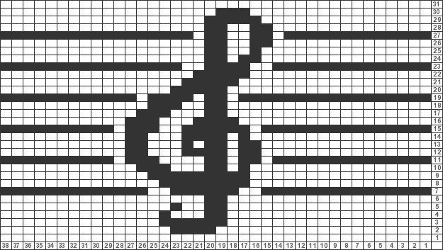 Tricksy Knitter Charts: Treble Clef by kassandrawang