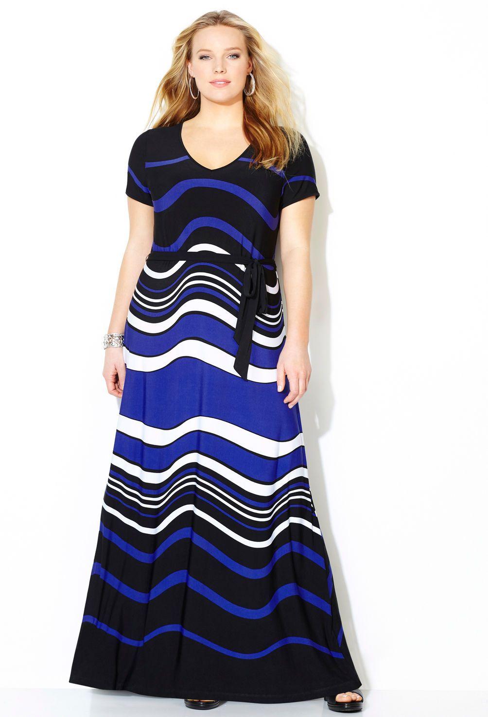 Dip dye chevron maxi dressplus size dressavenue things i am