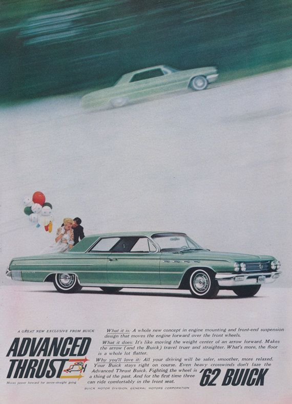 1962 Buick Classic Car Vintage Advertisement Wall by AdVintageCom
