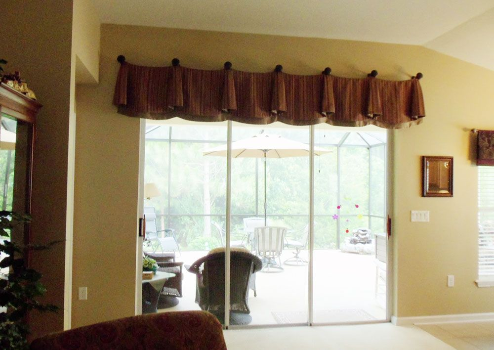 Window Valances Above Sliding Doors Enchanting Treatments For Gl