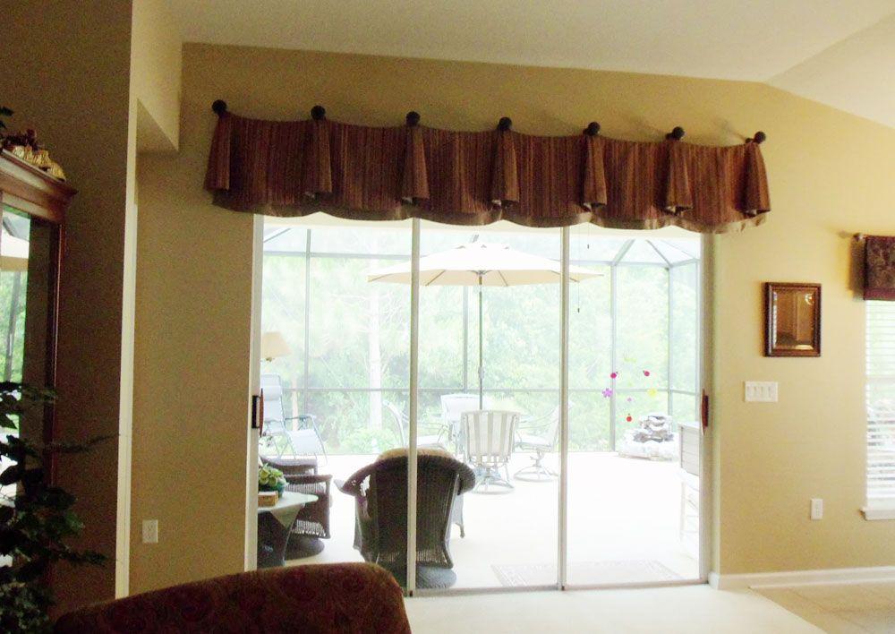 window valances above sliding doors | Enchanting Window ...