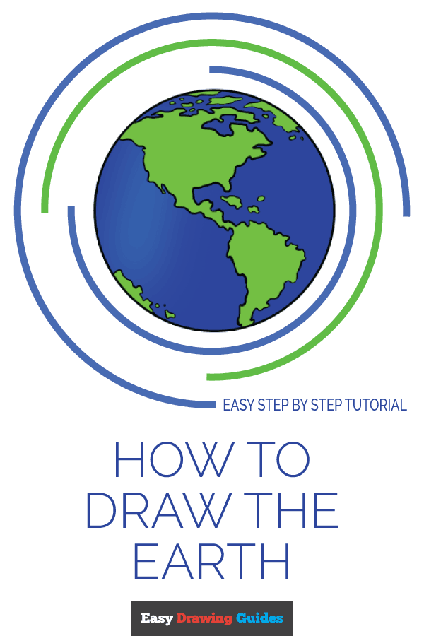 How To Draw The Earth Really Easy Drawing Tutorial Repost