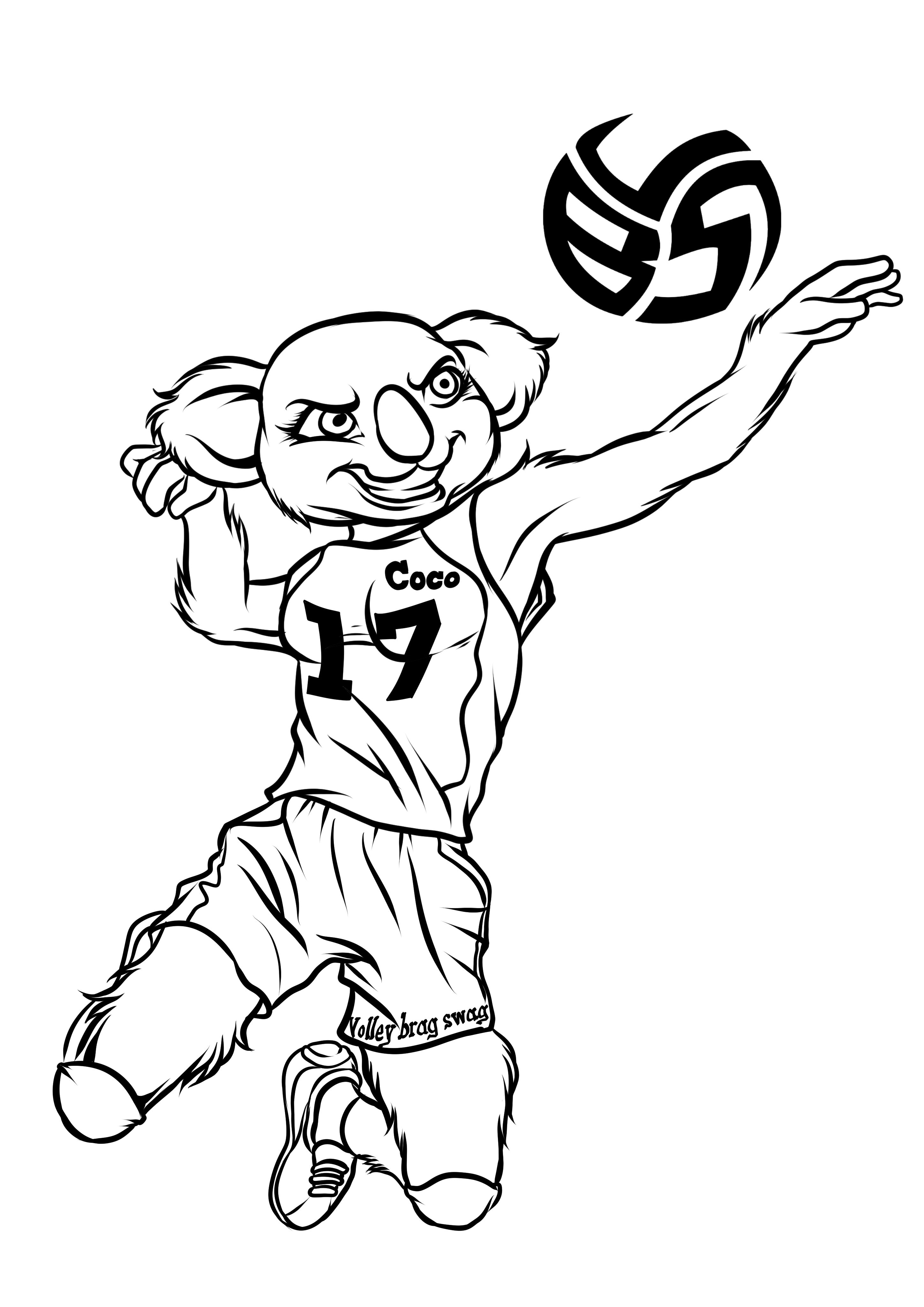 Koala Coloring Pages With Volleybragswag Opposite Coco the
