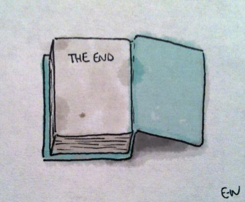 The saddest part of a book that you love  -  (via the-ladykatsa)