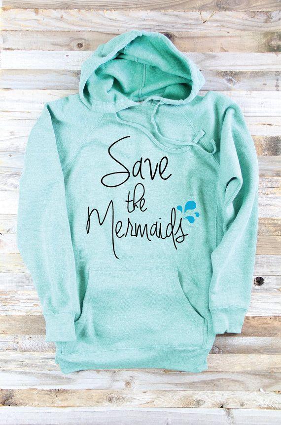 4ffcec28948c Sea Green Hooded Sweatshirt - Mermaid Sweater - Mermaid Clothes ...