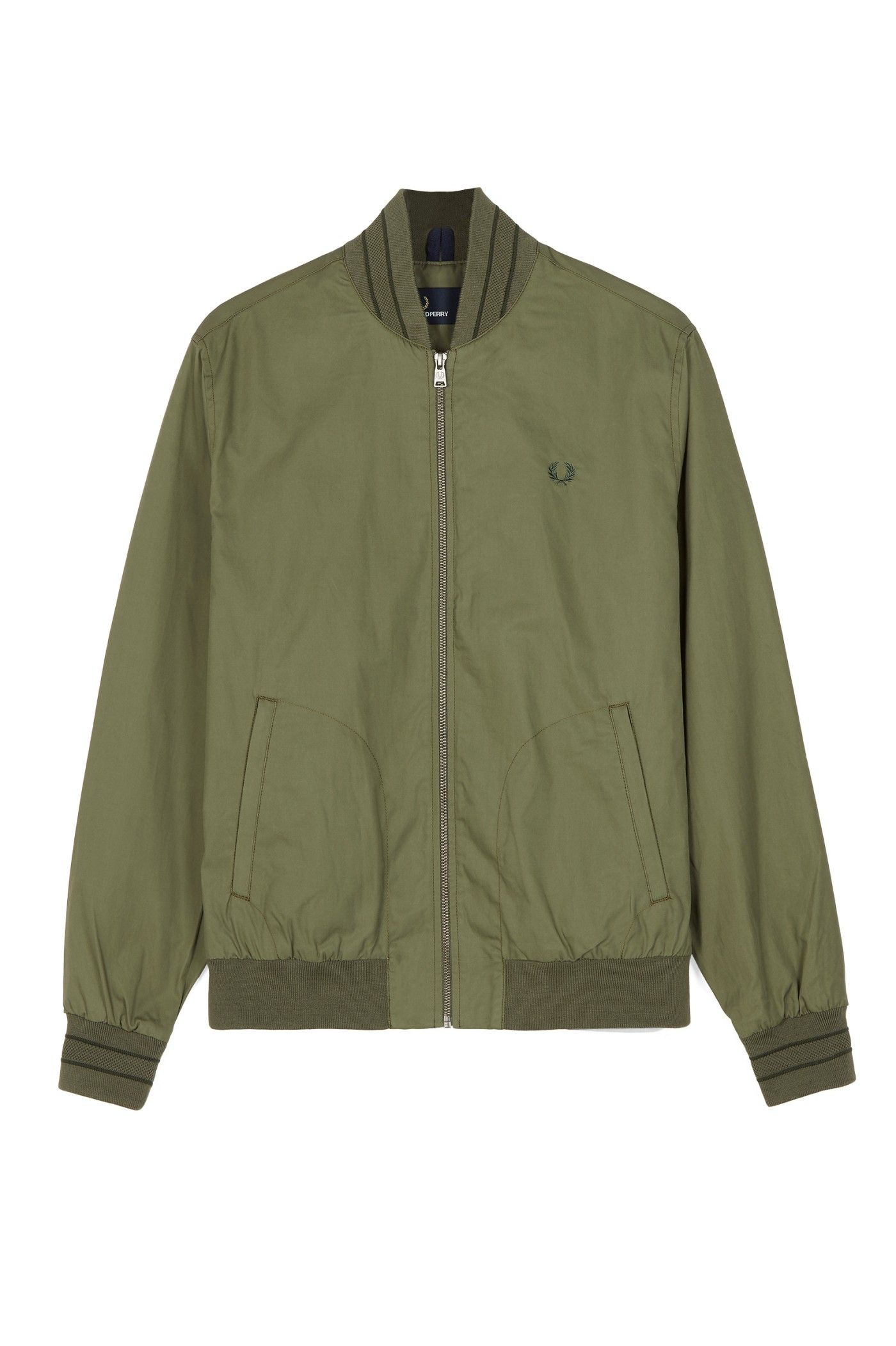 febfd6be8 Fred Perry - Tramline Bomber Jacket Olive Drab