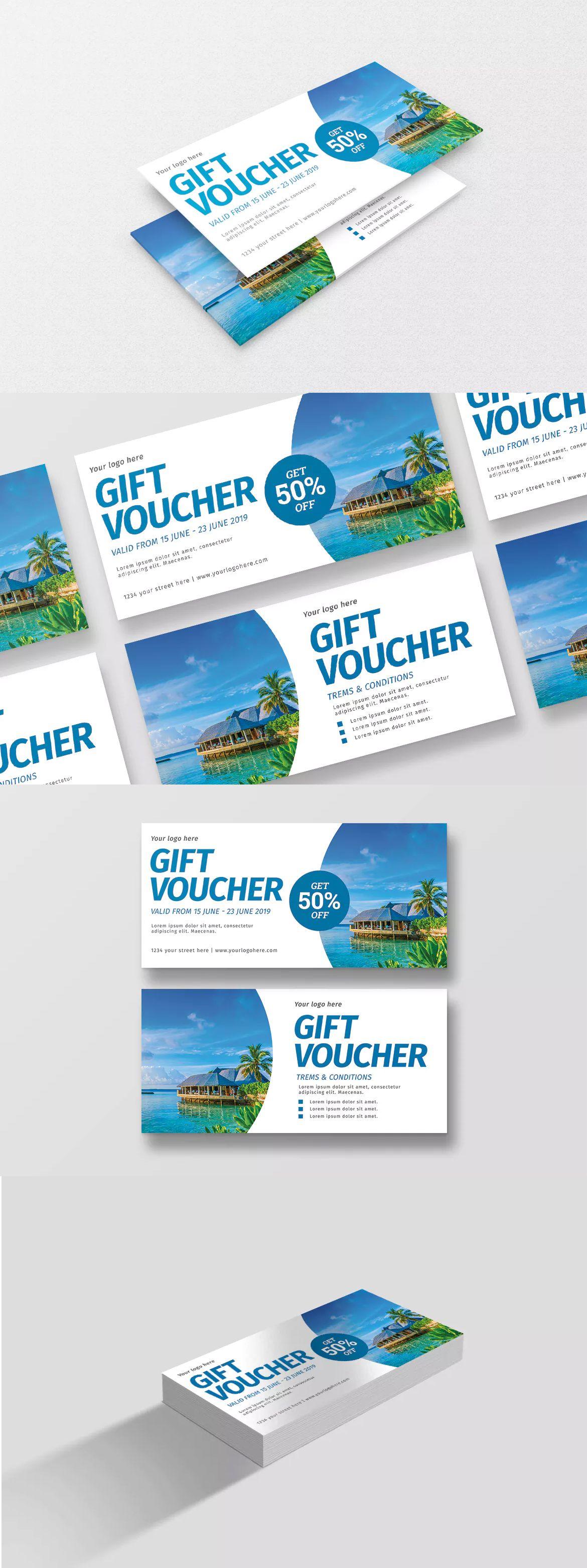 travel voucher template psd