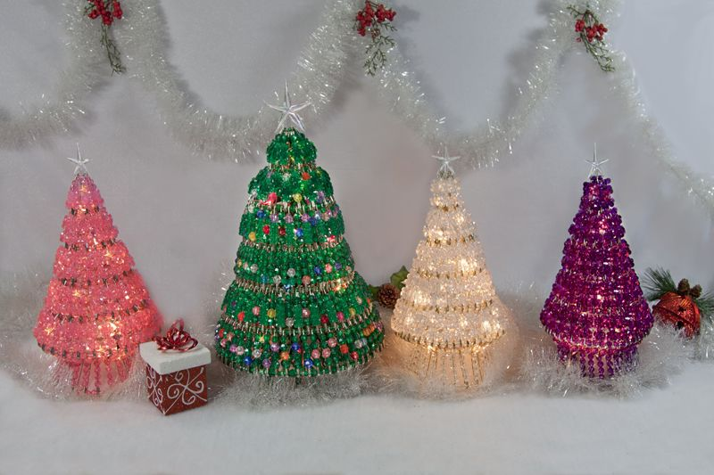 Make Your Own Beautiful Beaded Christmas Tree Kit To Add To Your Decor Or To Give As A Gift Christmas Tree Beads Christmas Tree Kit Holiday Crafts Christmas