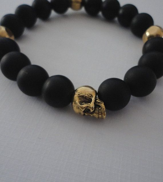 bracelets black onyx jewelry bracelet mens lion