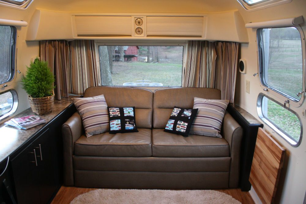 Magnificent See A Couch Does Fit Airstreaming Airstream Airstream Andrewgaddart Wooden Chair Designs For Living Room Andrewgaddartcom