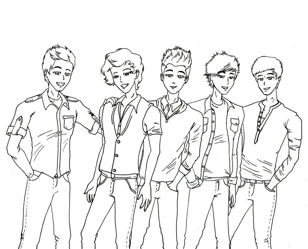 One Direction Coloring Pages Without Color