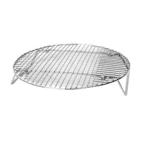 Excellante Nickel Plated Round Cooling Steamer Rack 1012inch
